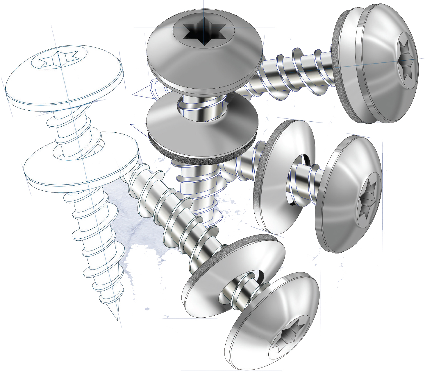 Screws are our standard fasteners, Stronger buildings start with the materials we use.